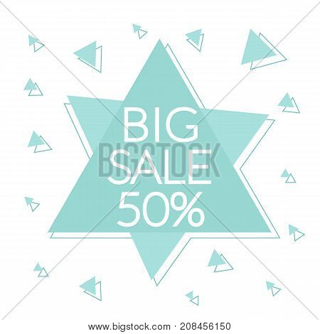 BIG SALE. Abstract sale sign with explosion effect. Vector illustration.