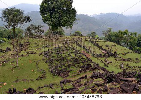 An Megalithic Site In West Java, Indonesia. It Has Thousands Of Ancient Stones. It's Claimed To Be T