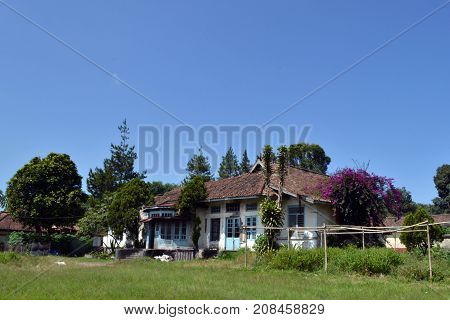 An Old And Abandoned House In Lembang, Bandung, West Java - Indonesia. It Was A Seminary Complex Bac