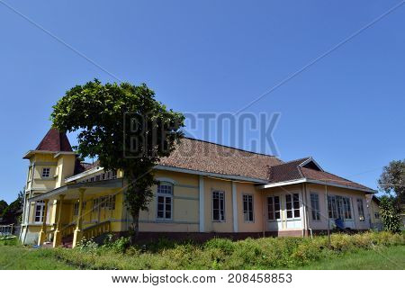 An Old And Abandoned House In Lembang, Bandung, West Java - Indonesia. It Was A Seminary Back Around