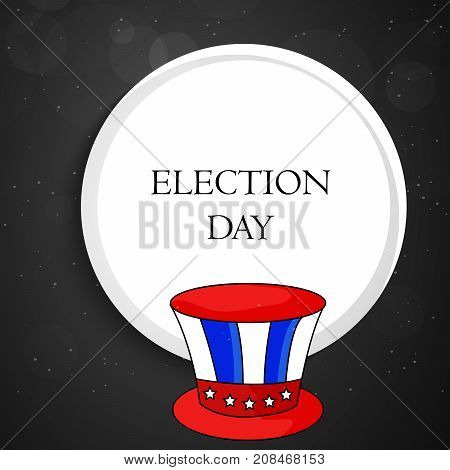 illustration of hat with Election Day text on the occasion of election day