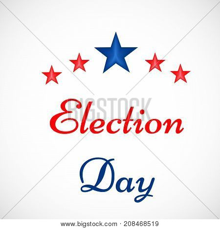 illustration of stars with election day text on the occasion of election day