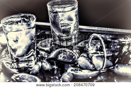 Closeup Vodka , Gin, Tonic, Tequila
