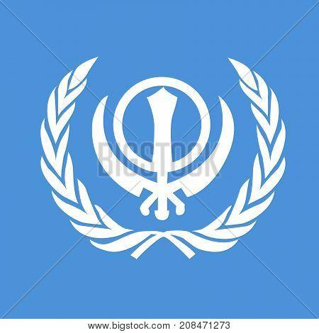 illustration of Sikhism symbol on the occasion of Sikh Festival Guru Nanak Jayanti