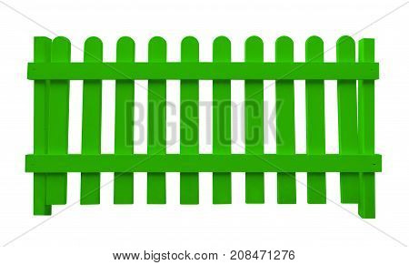 Wooden Fence - Green