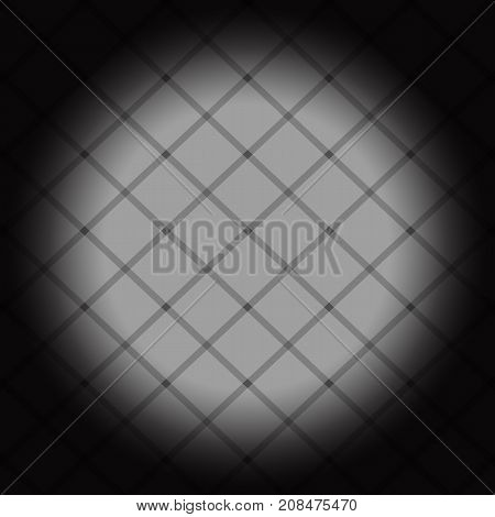 poster round gray squares chess. banner grey circle. abstract black background pattern. monochrome grunge texture. halftone effect. vector illustration