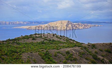 Velebit shore in north part of dalmatia in Croatia