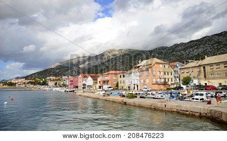 Karlobag town in north Dalmatia in Crotia