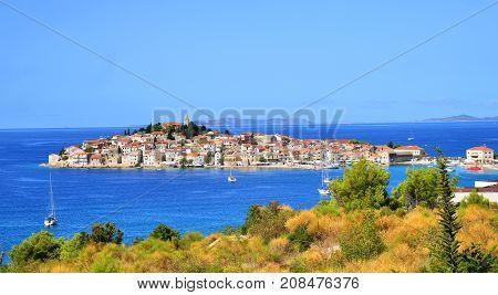 Summer in Primosten town in south Croatia