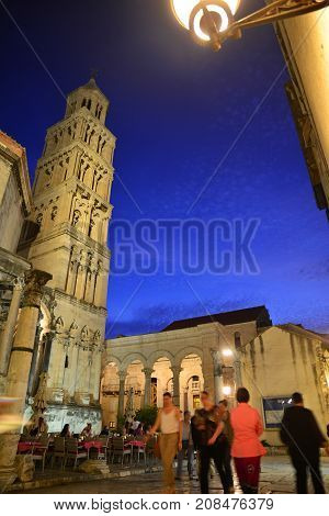 Old part of Split town in Croatia