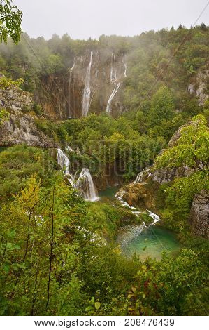 Plitvice lakes in central part of Croatia