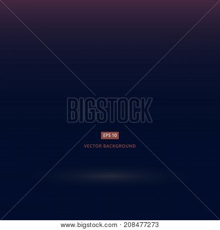 Abstract luxury dark blue and black gradient with lighting background Studio backdrop well use as black backdrop Vector Illustration.