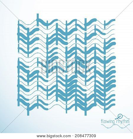 Flowing stripes vector abstract wave lines illustration for use as website background.