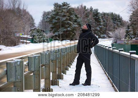 Winter Walk In Russia.