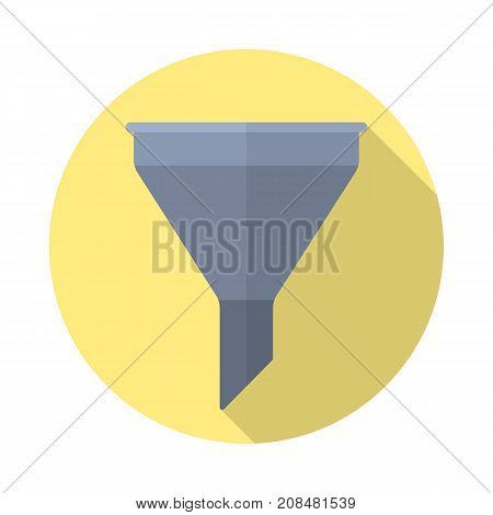 filter icon in flat style with long shadow isolated web icon