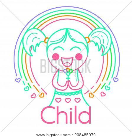 Concept Of Childrens Creativity Girl