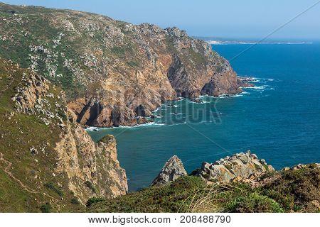 Cabo da Roca Coastline the Western Point of Europe Portugal