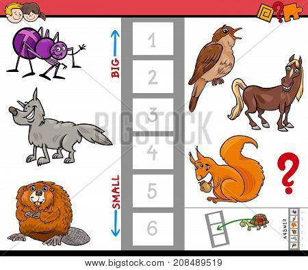 Big And Small Animals Cartoon Activity Game