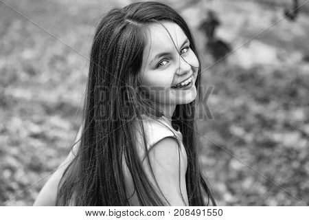 Little Smiling Girl Outdoor