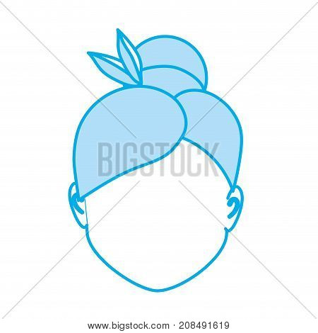 silhouette default avatar woman to social user vector illustration
