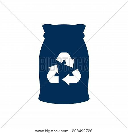 Vector Garbage Bag Element In Trendy Style.  Isolated Junk Icon Symbol On Clean Background.