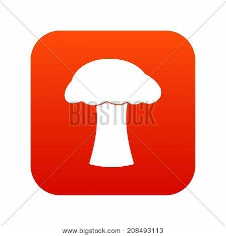 Mushroom icon digital red for any design isolated on white vector illustration