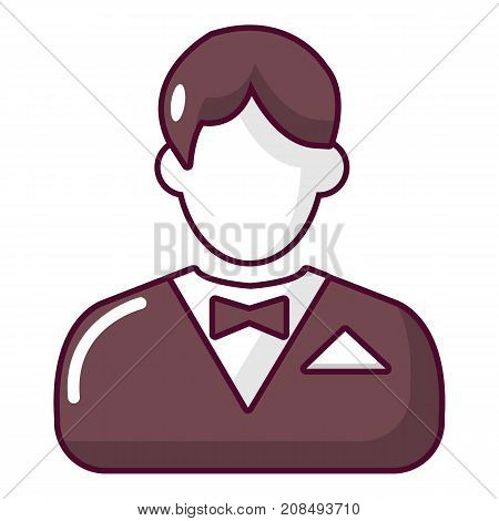 Croupier icon. Cartoon illustration of croupier vector icon for web