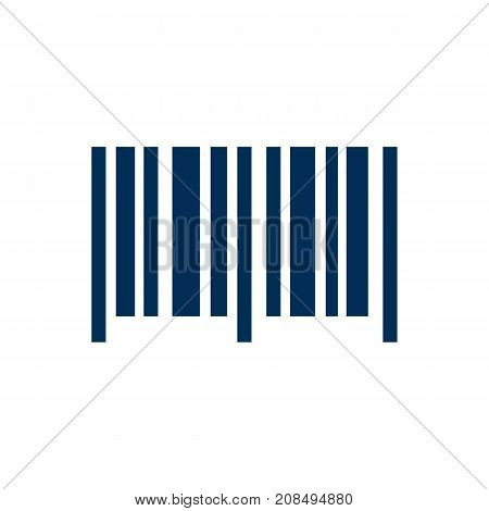Vector Identification Code Element In Trendy Style.  Isolated Barcode Icon Symbol On Clean Background.