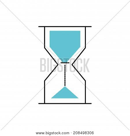 hourglass object design to know the time vector illustration