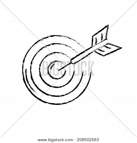 figure dart target board to strategy competition vector illustration