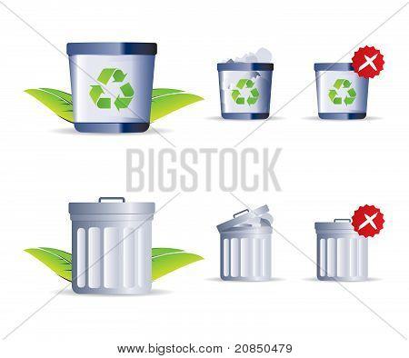 Trash Icon Set