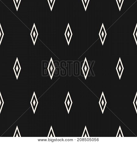 Argyle vector seamless pattern, simple geometric texture with rhombuses. Abstract monochrome minimalist background, repeat tiles. Subtle dark design for prints, decoration, fabric, cover, digital, web.