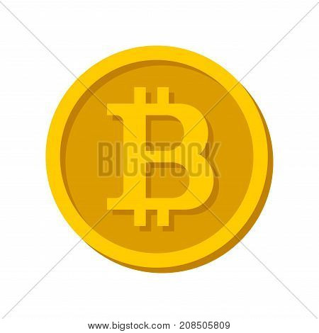 Bitcoin Sign Logo on White Background. Vector Illustration
