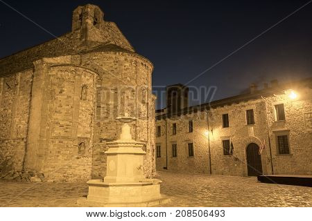 San Leo (Forli Cesena Emilia Romagna Italy): the historic town at evening