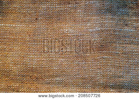 Gunny sack background, abstract texture, close view