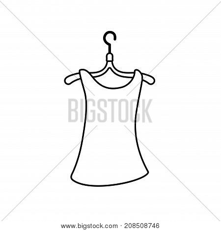 line woman blouse casual design style vector illustration