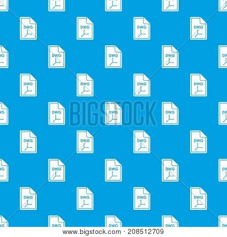 File DWG pattern repeat seamless in blue color for any design. Vector geometric illustration