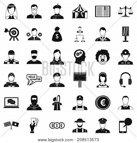 Robbery icons set. Simple style of 36 robbery vector icons for web isolated on white background