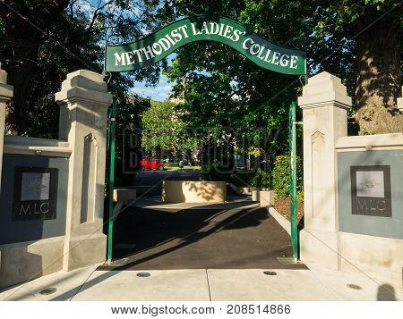 Melbourne, Australia - February 10, 2017: Methodist Ladies College is an elite girls school in Kew. It offers day school and a boarding school.