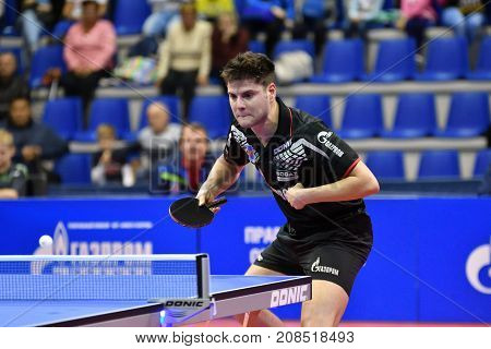 Orenburg, Russia - September 28, 2017 Years: Boy Compete In The Game Table Tennis