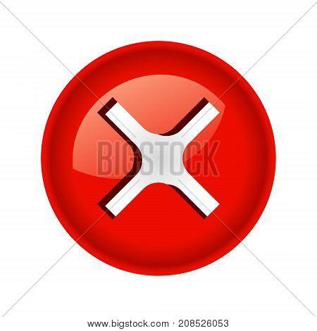 Screw bolt head cap logo icon. Realistic illustration of screw bolt head cap vector illustration for print or web design.