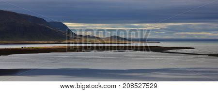 Coastal scene in the north of Iceland.