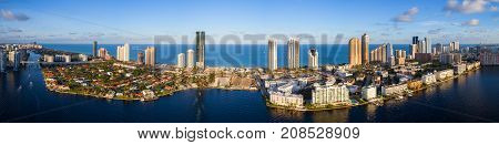 Aerial high def image of Sunny Isles Beach FL