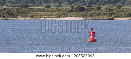 Gimp Elbow marker Buoy in Southampton water