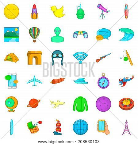Investigation icons set. Cartoon style of 36 investigation vector icons for web isolated on white background