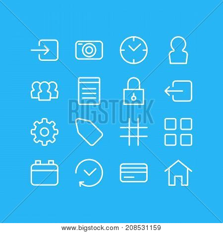 Editable Pack Of Group, Document, House And Other Elements.  Vector Illustration Of 16 Annex Icons.