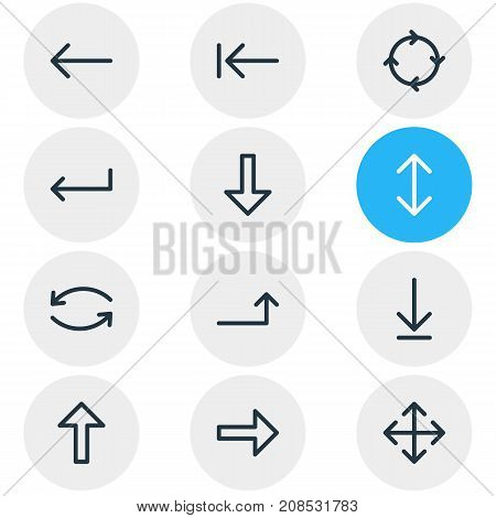 Editable Pack Of Right, Turn, Loading And Other Elements.  Vector Illustration Of 12 Sign Icons.