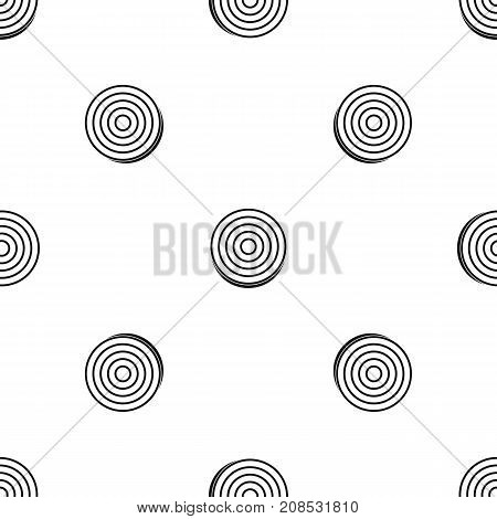 Slice of sweet onion pattern repeat seamless in black color for any design. Vector geometric illustration