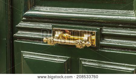 Very Nice Brass Door Handle On A Residential Building