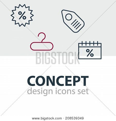 Editable Pack Of Sales, Discount, Rack And Other Elements.  Vector Illustration Of 4 Commerce Icons.